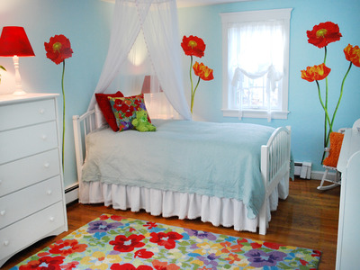 Bedroom on Lfbdesigns Poppy Wall Art Girls Bedroom