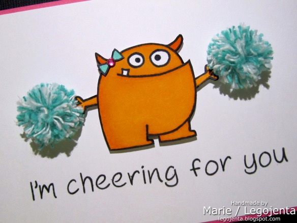 Cheering for You Card closeup