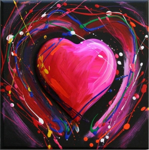 'Splatter Heart' by Roark Gourley