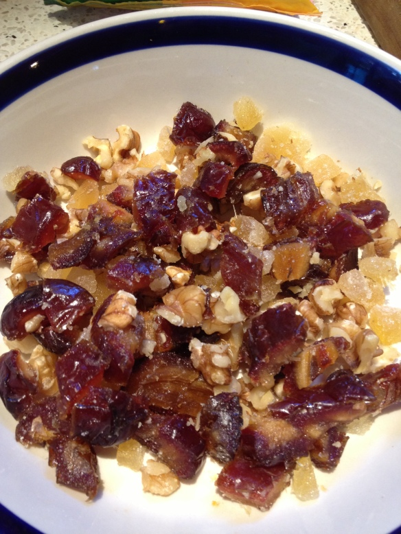 Dates, ginger and walnuts