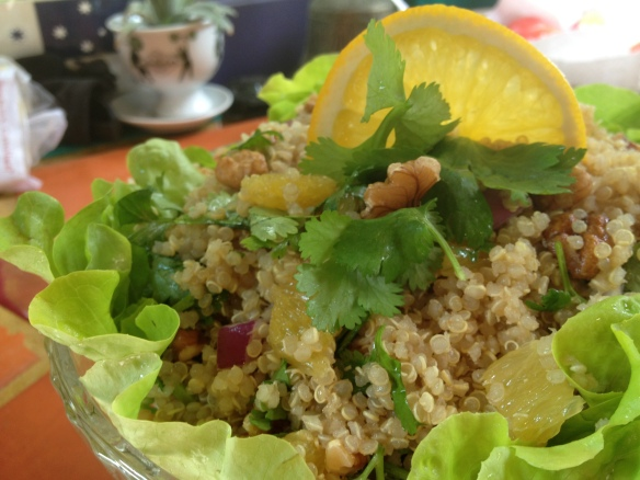 quinoa with asian flavours