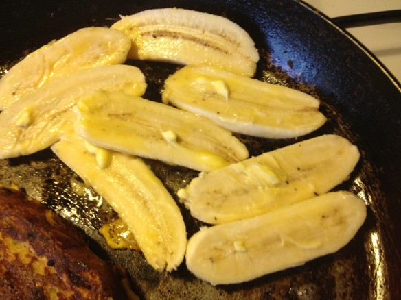 fry off the bananas