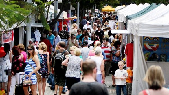 Southbank Markets. Picture: Grant Parker Source: The Courier-Mail