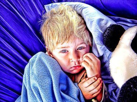 Sick child - image from www.bloggingdad.com
