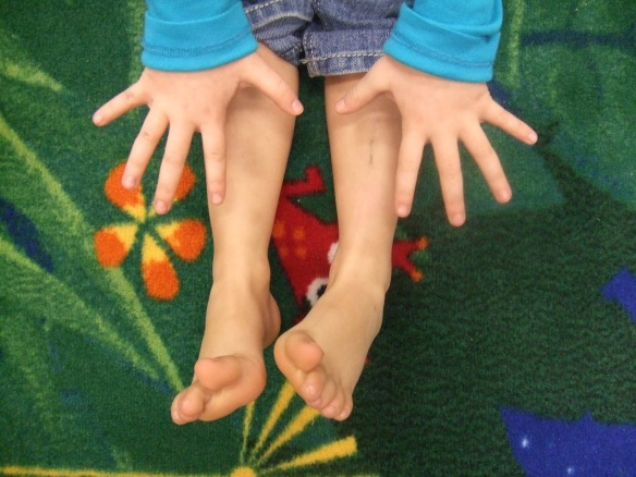 Counting on fingers and toes - Image from Climbing Frames UK