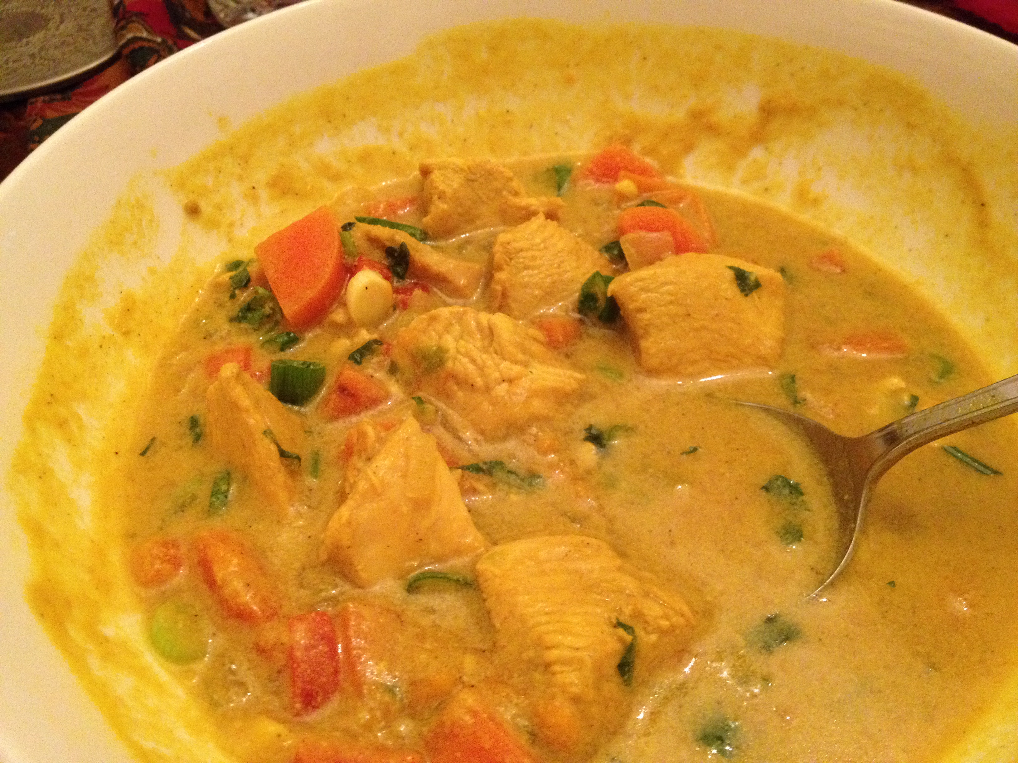 easy chicken curry with coconut cream cauldrons and cupcakes