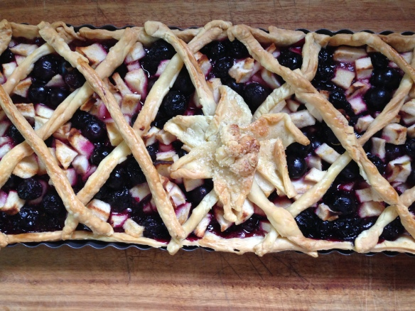 fresh apple and blackberry tart