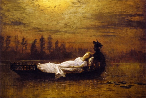 The Lady of Shallot by John Atkinson Grimshaw