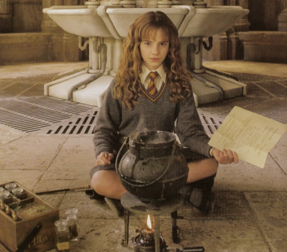 Beautifully brave Hermione Granger, with her head always in a book. Image from 100 Classics