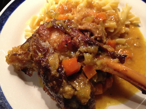 lamb shanks lemon