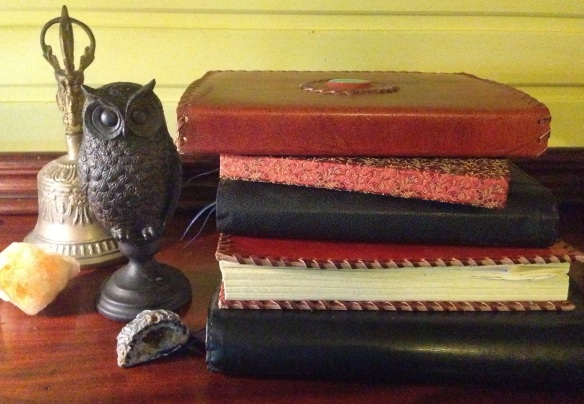 Some of my own witchy journals and tools