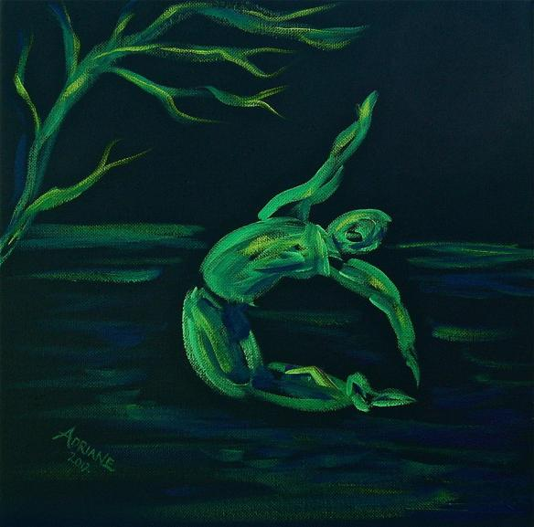 Green Dancer by Adriane Pirro