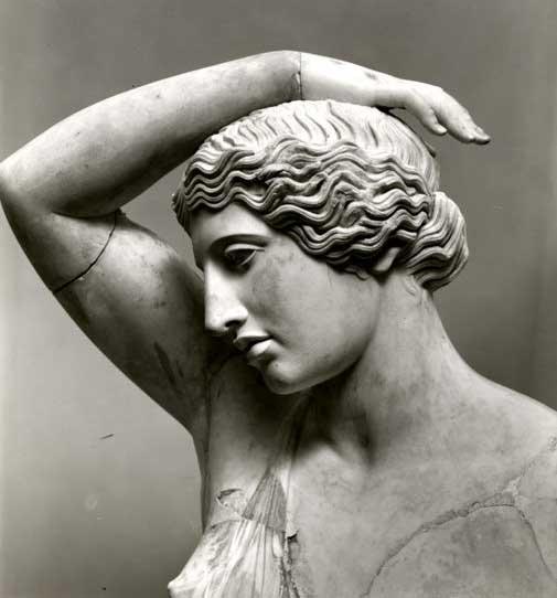 THE WOUNDED AMAZON, Marble statue Metropolitan Museum, NY: wounded Amazon (Roman Copy, probably after Polykleitos or even Kresilas or Pheidias) c. 450-425 BC.